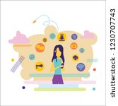 social media background with... | Shutterstock .eps vector #1230707743