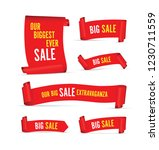 our big sale set of red banners | Shutterstock .eps vector #1230711559