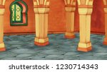 cartoon scene with medieval... | Shutterstock . vector #1230714343