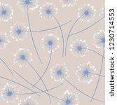 cute dandelion blowing vector... | Shutterstock .eps vector #1230714553