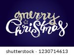 winter holidays   hand drawn... | Shutterstock .eps vector #1230714613