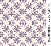 seamless decorative vector... | Shutterstock .eps vector #1230716449