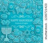 Hanukkah Greeting Card With...