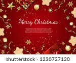 christmas and new year... | Shutterstock .eps vector #1230727120