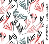 tropical colorful palm leaf... | Shutterstock .eps vector #1230733336