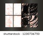 set of vector rose gold... | Shutterstock .eps vector #1230736750