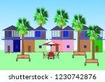 urban street scene time scene... | Shutterstock .eps vector #1230742876