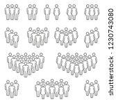 compositions of groups of men... | Shutterstock .eps vector #1230743080