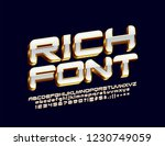 vector rich 3d font. white and... | Shutterstock .eps vector #1230749059