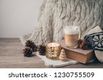 hygge scandinavian style...   Shutterstock . vector #1230755509