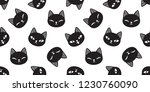 cat seamless pattern vector... | Shutterstock .eps vector #1230760090