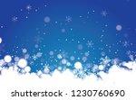 blue winter snowflake... | Shutterstock .eps vector #1230760690