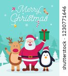 christmas design card | Shutterstock .eps vector #1230771646