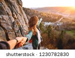 First View Of Woman Hiker With...