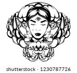 vector hand drawn illustration...   Shutterstock .eps vector #1230787726