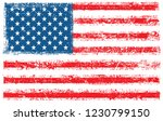grunge usa flag | Shutterstock .eps vector #1230799150
