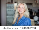 close up of a pretty mature... | Shutterstock . vector #1230802930