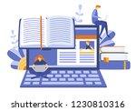 tutorial infographic  e... | Shutterstock .eps vector #1230810316