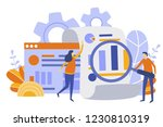 finance and engineering graph... | Shutterstock .eps vector #1230810319