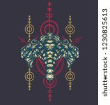 sacred geometry design with the ... | Shutterstock .eps vector #1230825613
