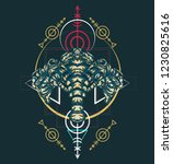 sacred geometry design with the ... | Shutterstock .eps vector #1230825616