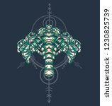 sacred geometry design with the ... | Shutterstock .eps vector #1230825739