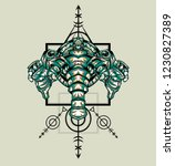 sacred geometry design with the ... | Shutterstock .eps vector #1230827389