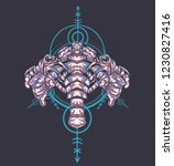 sacred geometry design with the ... | Shutterstock .eps vector #1230827416