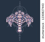 sacred geometry design with the ... | Shutterstock .eps vector #1230827443