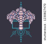 sacred geometry design with the ... | Shutterstock .eps vector #1230827470