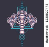 sacred geometry design with the ... | Shutterstock .eps vector #1230827473