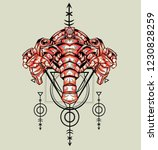 sacred geometry design with the ... | Shutterstock .eps vector #1230828259