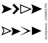 arrow compass icon vector logo... | Shutterstock .eps vector #1230831793