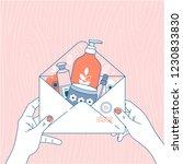 cosmetics online shop order.... | Shutterstock .eps vector #1230833830