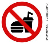 no food and drinks sign vector | Shutterstock .eps vector #1230838840