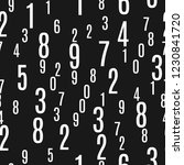 numbers shapes seamless pattern ... | Shutterstock .eps vector #1230841720