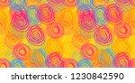 vector scribble circles...   Shutterstock .eps vector #1230842590