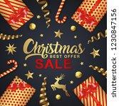 christmas sale banner design... | Shutterstock .eps vector #1230847156