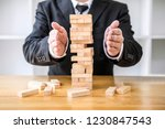 alternative risk concept  plan... | Shutterstock . vector #1230847543