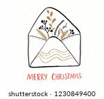 merry christmas greeting card... | Shutterstock .eps vector #1230849400