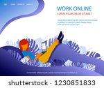 website page flat design... | Shutterstock .eps vector #1230851833