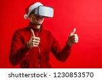 Santa Claus Wearing Virtual...