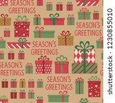 seasons greeting. seamless... | Shutterstock .eps vector #1230855010