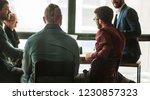 multinational business team... | Shutterstock . vector #1230857323