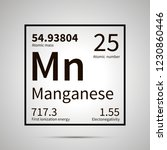 manganese chemical element with ... | Shutterstock .eps vector #1230860446