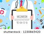 vaccination banner concept flat ...   Shutterstock .eps vector #1230865420