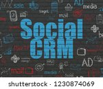 marketing concept  painted blue ...   Shutterstock . vector #1230874069
