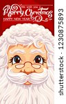 santa claus portrait with hand ... | Shutterstock .eps vector #1230875893