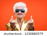 funny and extravagant senior... | Shutterstock . vector #1230880579