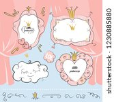 set of cute doodle mirrors.... | Shutterstock .eps vector #1230885880